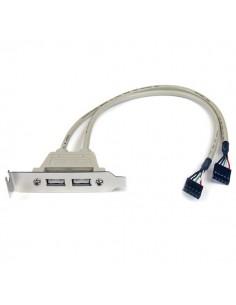 StarTech.com 2 Port USB A Female Low Profile Slot Plate Adapter Startech USBPLATELP - 1