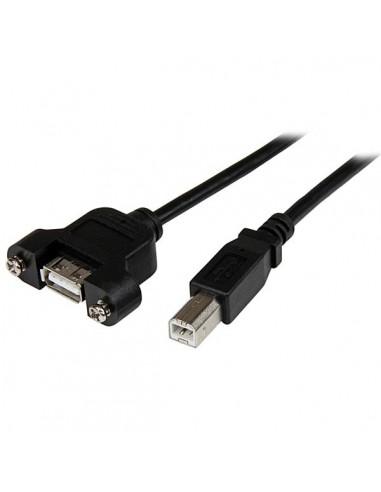 StarTech.com USBPNLAFBM3 USB-kaapeli 0.9 m USB 2.0 A B Musta Startech USBPNLAFBM3 - 1