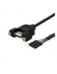 StarTech.com 30 cm USB-panelmonteringskabel – USB-A till moderkortshuvudkabel F/F Startech USBPNLAFHD1 - 1