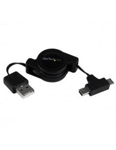 StarTech.com USBRETAUBMB USB-kaapeli 0.8 m USB 2.0 A Micro-USB B/Mini-USB B Musta Startech USBRETAUBMB - 1