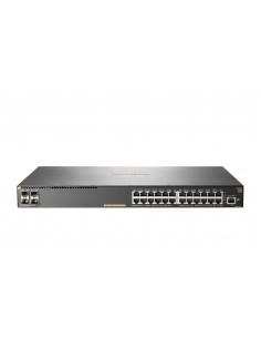 Hewlett Packard Enterprise Aruba 2930F 24G PoE+ 4SFP+ Managed L3 Gigabit Ethernet (10/100/1000) Power over (PoE) 1U Grey Hp JL25