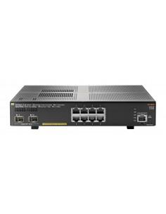 Hewlett Packard Enterprise Aruba 2930F 8G PoE+ 2SFP+ Hallittu L3 Gigabit Ethernet (10/100/1000) Power over -tuki 1U Harmaa Hp JL