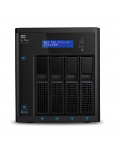 Western Digital My Cloud PR4100 NAS Skrivbord Nätverksansluten (Ethernet) Svart N3710 Western Digital WDBNFA0240KBK-EESN - 1