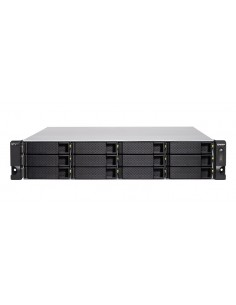 QNAP TS-h1277XU-RP NAS Rack (2U) Ethernet LAN Black, Grey 3700X Qnap TSH1277XURP3700X128G - 1