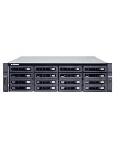 QNAP TVS-1672XU-RP NAS Teline ( 3U ) Ethernet LAN Musta i3-8100 Qnap TVS-1672XU-RP-I3-8G - 1