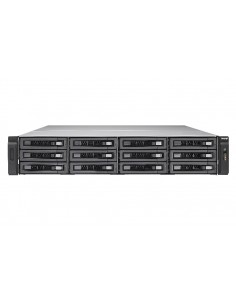 QNAP TVS-EC1280U-SAS-RP E3-1246V3 Ethernet LAN Teline ( 2U ) Musta NAS Qnap TVSEC1280USASRP8GER2 - 1