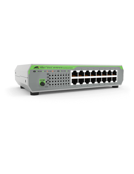 Allied Telesis AT-FS710/16-50 Unmanaged Fast Ethernet (10/100) 1U Green, Grey Allied Telesis AT-FS710/16-50 - 2