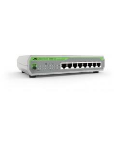 Allied Telesis FS710/8 Hallitsematon Fast Ethernet (10/100) Vihreä, Harmaa Allied Telesis AT-FS710/8-30 - 1