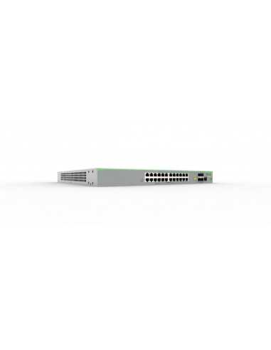 Allied Telesis AT-FS980M/28DP-50 Hallittu L3 Fast Ethernet (10/100) Power over -tuki Harmaa Allied Telesis AT-FS980M/28DP-50 - 1