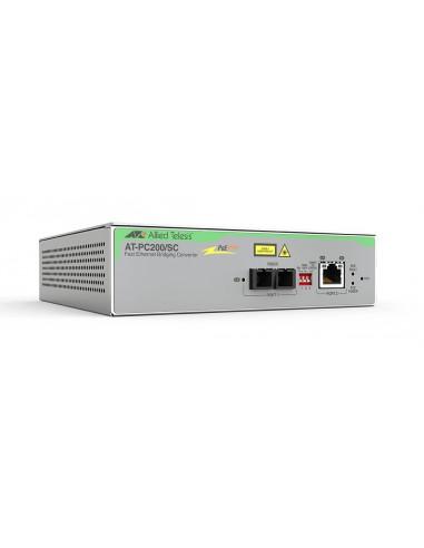 Allied Telesis AT-PC200/SC-60 verkon mediamuunnin 100 Mbit/s 1310 nm Monitila Harmaa Allied Telesis AT-PC200/SC-60 - 1