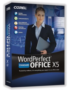 Corel WordPerfect Office X5 Standard, 61-120u, UPG, ENG Englanti Corel LCWPX5MLUGD - 1