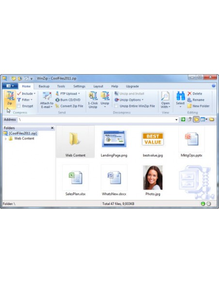Corel WinZip 15 Pro, 500-999U, EDU, EN Corel LCWZ15PROENAG - 2