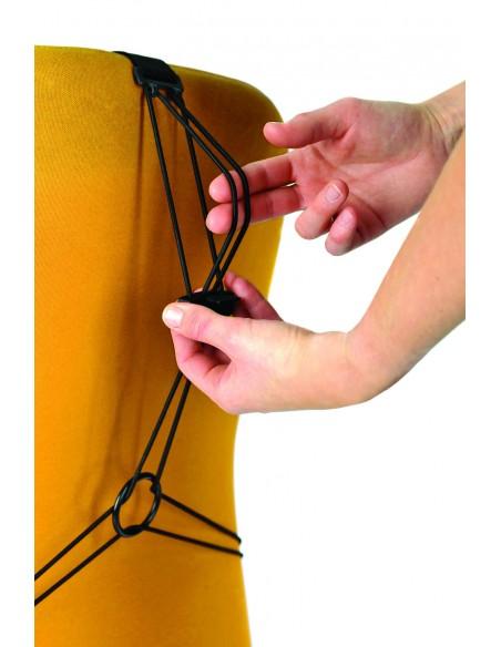 Fellowes 9191301 ryggstöd till stolar grafit Fellowes 9191301 - 3