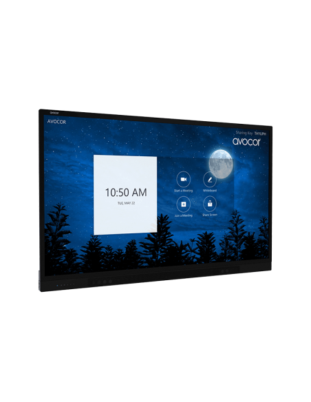 """Avocor F8650 2.18 m (86"""") LED 4K Ultra HD Kosketusnäyttö Interaktiivinen litteä paneeli Musta Avocor F-8650 - 4"""