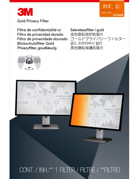 """3M Gold Privacy Filter for 21.5"""" Widescreen Monitor 3m 7100095965 - 2"""
