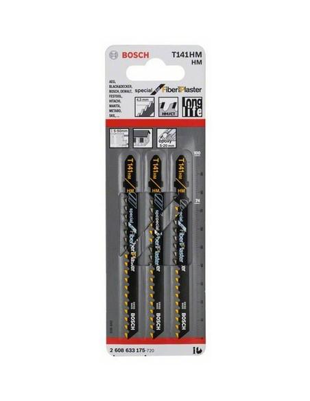 Bosch 2 608 633 175 sågblad till sticksåg, dekupörsåg och tigersåg Figursågblad Karbid 3 styck Bosch 2608633175 - 2