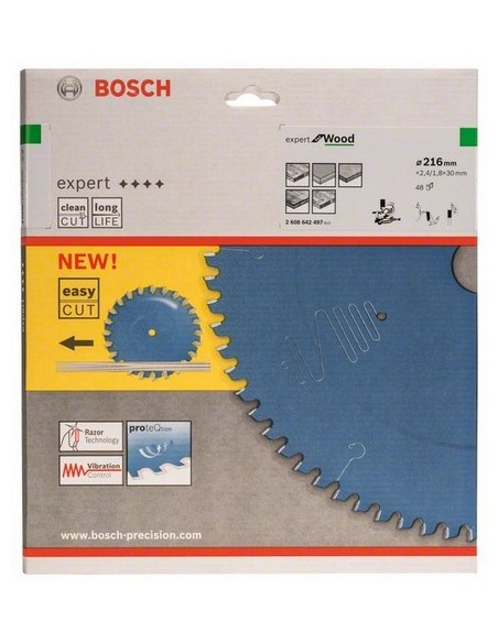 Bosch 2 608 642 497 pyörösahanterä 21.6 cm 1 kpl Bosch 2608642497 - 2