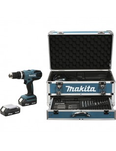 Makita HP457DWEX4 drill 1400 RPM 1.7 kg Black, Blue Makita HP457DWEX4 - 1