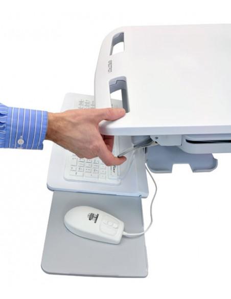 Ergotron StyleView Valkoinen Litteä paneeli Multimediakärry Ergotron SV43-13A0-0 - 4