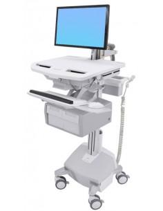 Ergotron SV44-12C2-C multimedia cart/stand Aluminium, Grey, White Flat panel Ergotron SV44-12C2-C - 1
