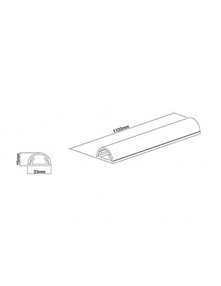 Multibrackets 1325 kaapelisuojain Kaapelin hallinta Valkoinen Multibrackets 7350022731325 - 10
