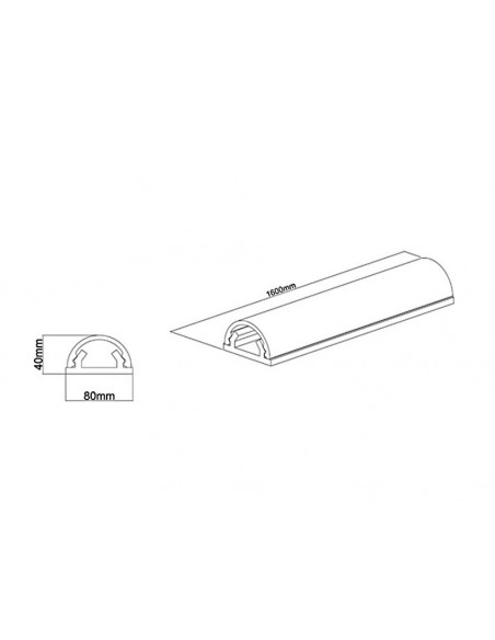Multibrackets 2186 kabelskydd Sladdhantering Vit Multibrackets 7350022732186 - 10