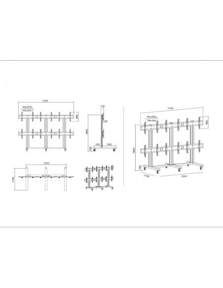 """Multibrackets 9727 kyltin näyttökiinnike 139.7 cm (55"""") Musta Multibrackets 7350022739727 - 18"""