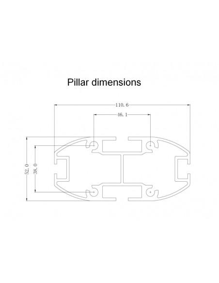 """Multibrackets 0636 kyltin näyttökiinnike 160 cm (63"""") Hopea Multibrackets 7350073730636 - 19"""