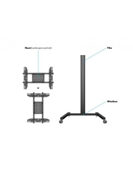 """Multibrackets 0643 kyltin näyttökiinnike 160 cm (63"""") Musta Multibrackets 7350073730643 - 7"""