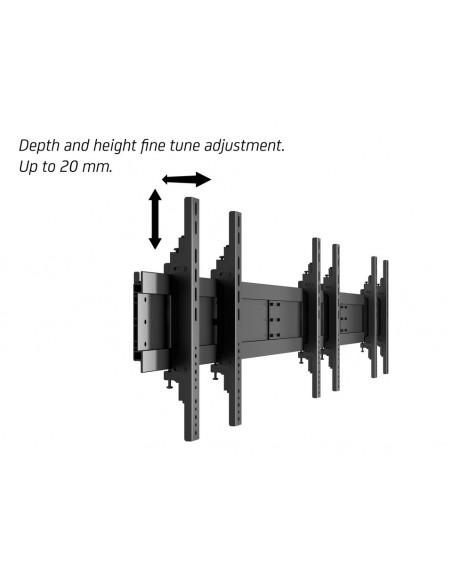 """Multibrackets 1800 fäste för skyltningsskärm 139.7 cm (55"""") Svart Multibrackets 7350073731800 - 17"""