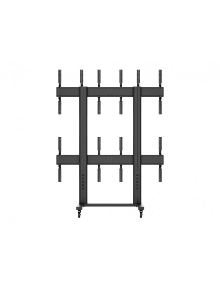 Multibrackets M Public Video Wall Stand Portrait 6-Screens 40-55'' Black Multibrackets 7350073731824 - 4