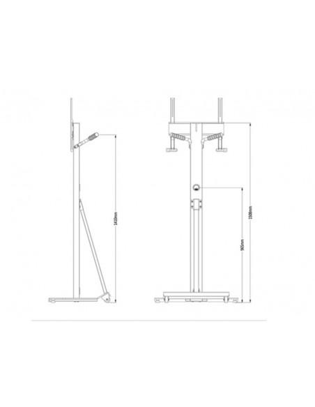"""Multibrackets 2364 kyltin näyttökiinnike 139.7 cm (55"""") Valkoinen Multibrackets 7350073732364 - 8"""