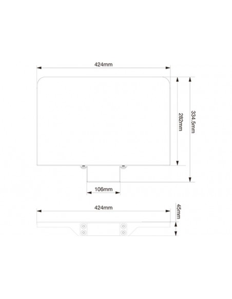 Multibrackets M Tilt & Roll Codec Shelf Multibrackets 7350073732388 - 4