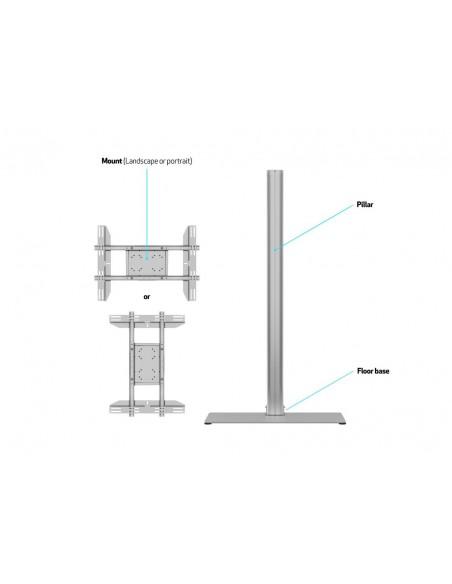 """Multibrackets 2418 kyltin näyttökiinnike 160 cm (63"""") Hopea Multibrackets 7350073732418 - 8"""