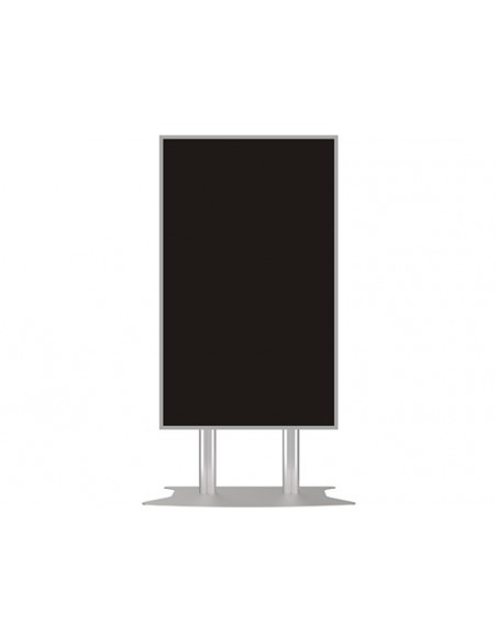 Multibrackets M Public Display Stand 180 Dual Pillar Floorbase Silver Multibrackets 7350073732555 - 7