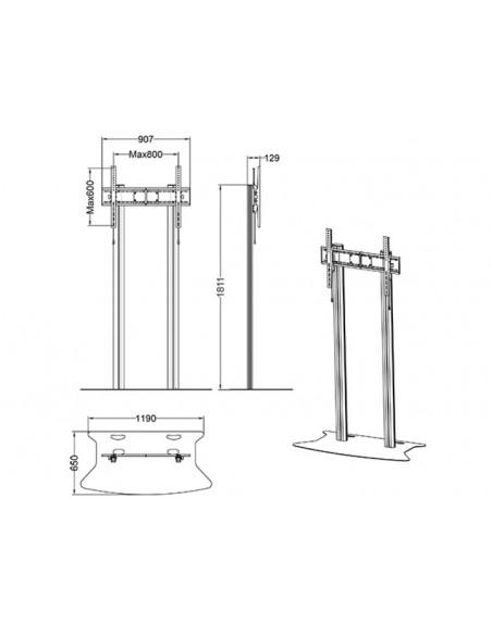 Multibrackets M Public Display Stand 180 Dual Pillar Floorbase Silver Multibrackets 7350073732555 - 9