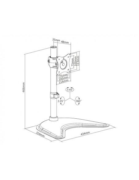 Multibrackets M Deskstand Basic Single Multibrackets 7350073733323 - 19