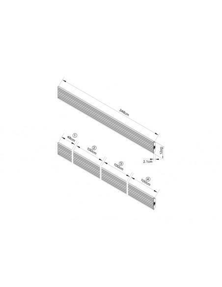 Multibrackets M Pro Series - Triple Screen Rail 348cm Silver Multibrackets 7350073733729 - 3