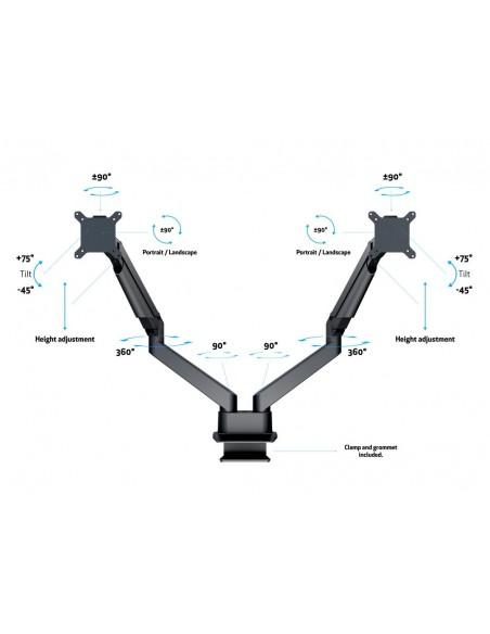Multibrackets M VESA Gas Lift Arm Dual Side by Black Multibrackets 7350073733965 - 8