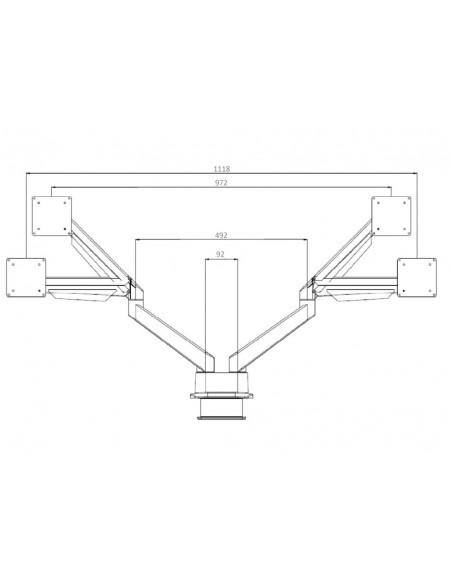 """Multibrackets 3965 monitorin kiinnike ja jalusta 81.3 cm (32"""") Puristin Musta Multibrackets 7350073733965 - 22"""