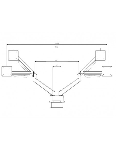 Multibrackets M VESA Gas Lift Arm Dual Side by Silver Multibrackets 7350073733972 - 22
