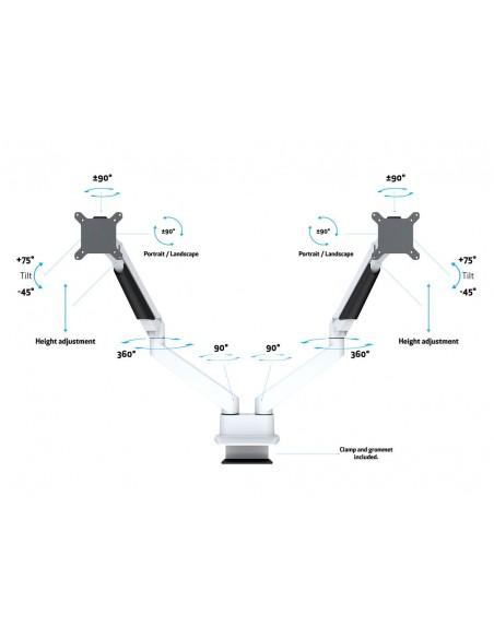 Multibrackets M VESA Gas Lift Arm Dual Side by White Multibrackets 7350073733989 - 8