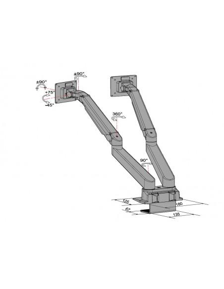 Multibrackets M VESA Gas Lift Arm Dual Side by HD Black Multibrackets 7350073734207 - 22