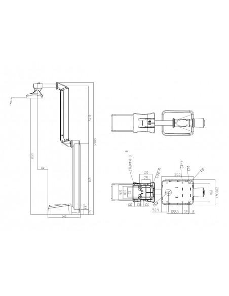 """Multibrackets 4269 monitorin kiinnike ja jalusta 68.6 cm (27"""") Valkoinen Multibrackets 7350073734269 - 4"""