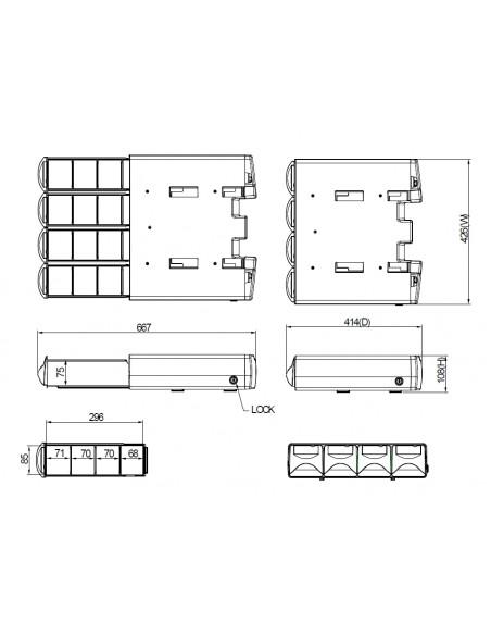 Multibrackets 4375 multimediavagnar Grå, Silver Gjuten aluminium, Plast, Stål Låda Multibrackets 7350073734375 - 8