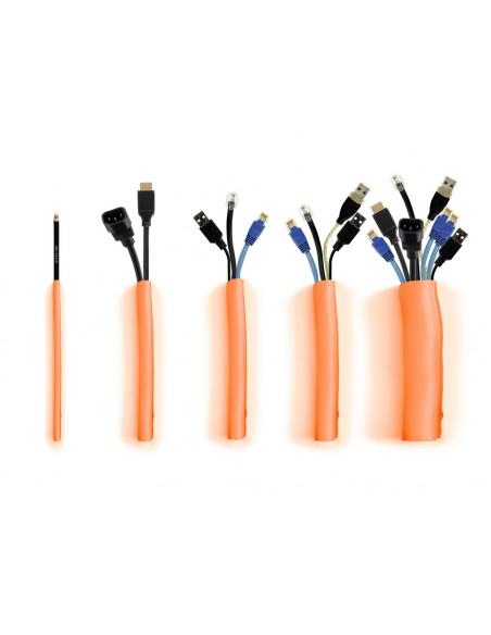 Multibrackets 4399 kaapelinjärjestäjä Kaapelisukka Oranssi 1 kpl Multibrackets 7350073734399 - 5