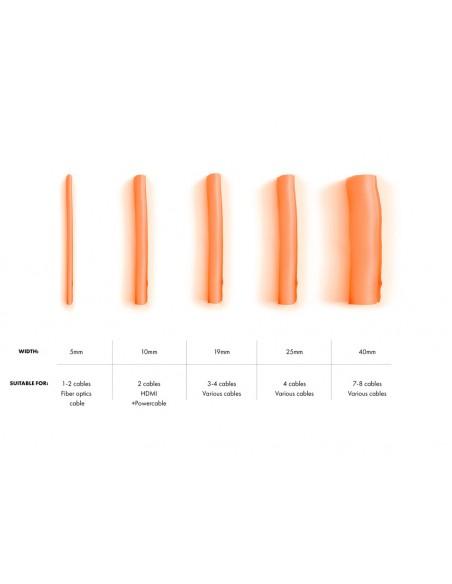 Multibrackets 4511 kaapelinjärjestäjä Kaapelisukka Oranssi 1 kpl Multibrackets 7350073734511 - 5