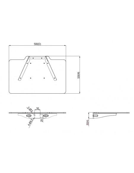 Multibrackets M Computer Shelf Motorized Touch Tilt & Table 120 kg Max Multibrackets 7350073735273 - 3