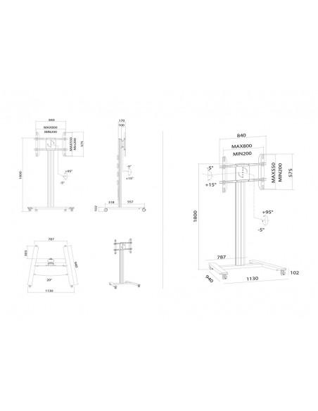 """Multibrackets 5327 kyltin näyttökiinnike 2.03 m (80"""") Hopea Multibrackets 7350073735327 - 16"""