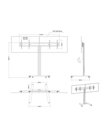 Multibrackets M Public Display Stand 180 HD Dual Black Multibrackets 7350073735358 - 13